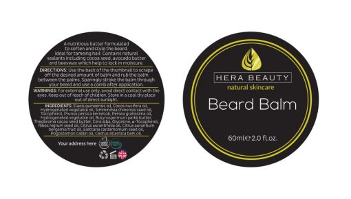 Beard Balm Dircetions for use
